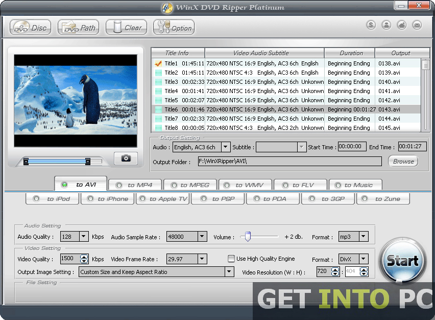 WinX DVD Ripper Platinum Free Download
