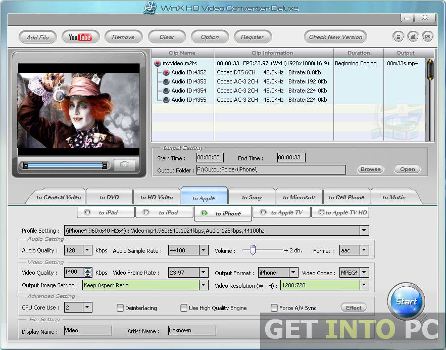 WinX HD Video Converter Deluxe Setup