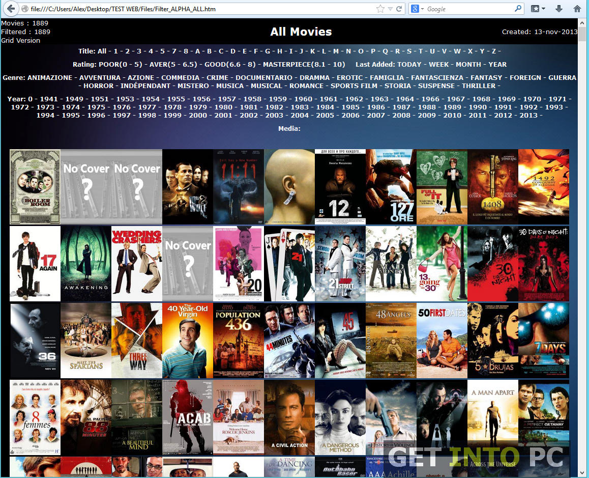 Extreme Movie Manager Interface