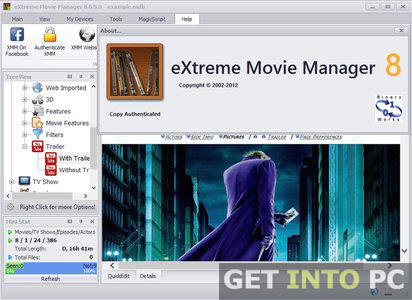 Extreme Movie Manager Setup