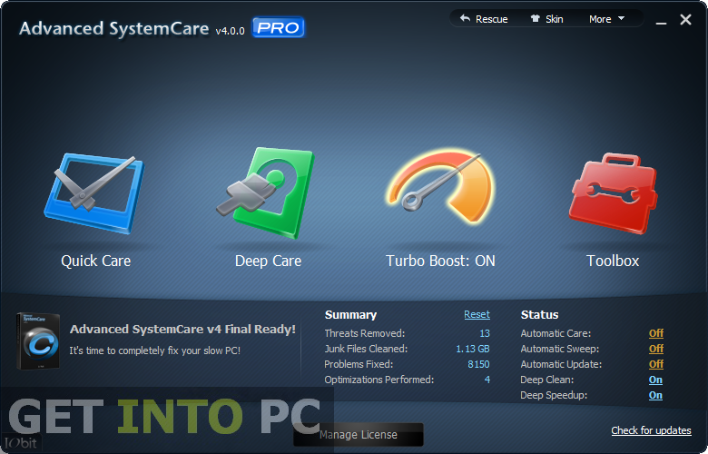 IObit Advanced SystemCare Pro Free