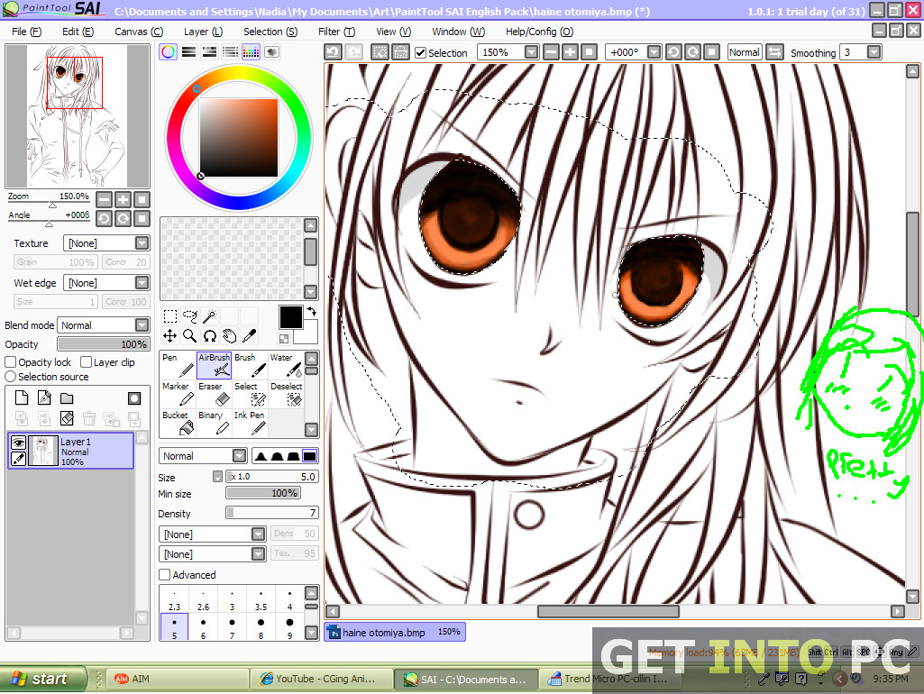 Line Art Software : Paint tool sai free download
