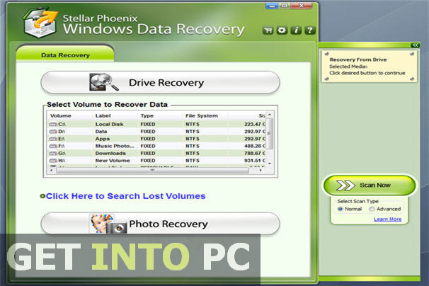 Stellar Phoenix Windows Data Recovery Offline Installer