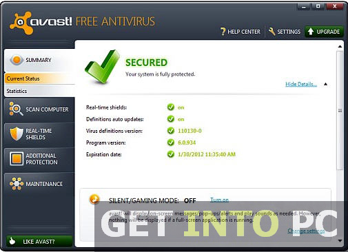 Free Download Avast Pro Antivirus 2013 Full Version With Key
