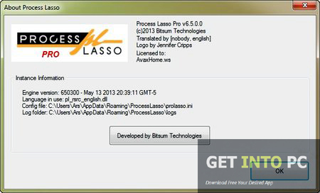 Bitsum Technologies Process Lasso Pro Setup Free Download