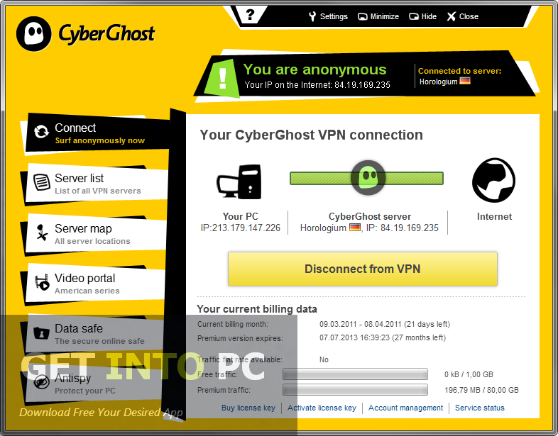 Cyber Ghost VPN Software Download