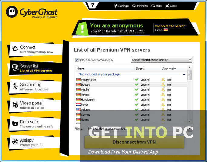Cyber Ghost VPN Setup Offline Installer
