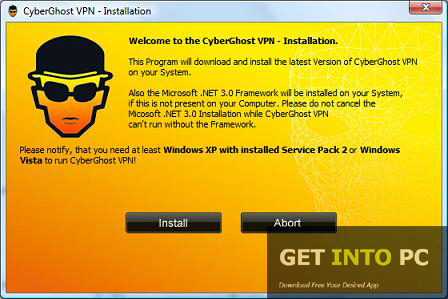 cyberghost vpn for pc free download