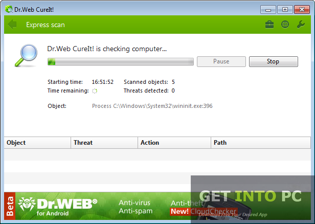 Dr.Web CureIt Setup For Windows