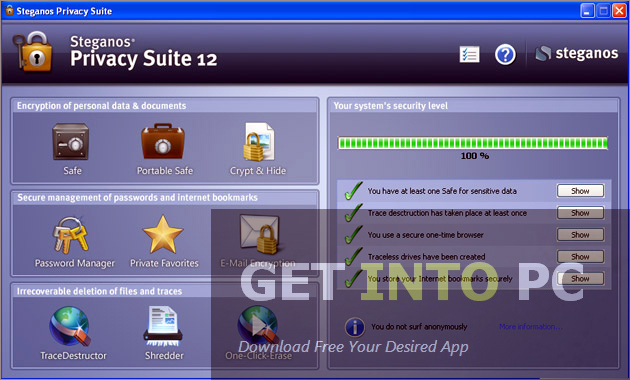 Steganos Privacy Suite For Windows