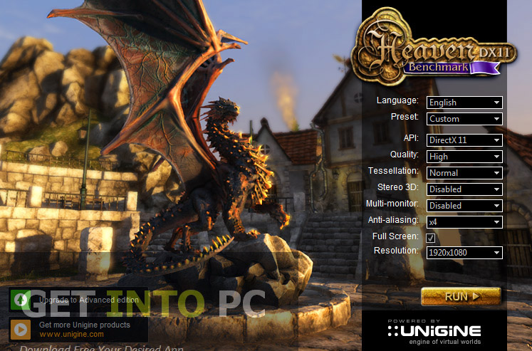 UNIGINE Heaven Benchmark Offline Installer Download