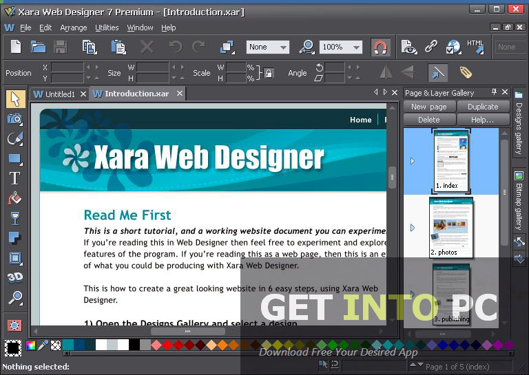 Xara web designer premium free download for House design websites free