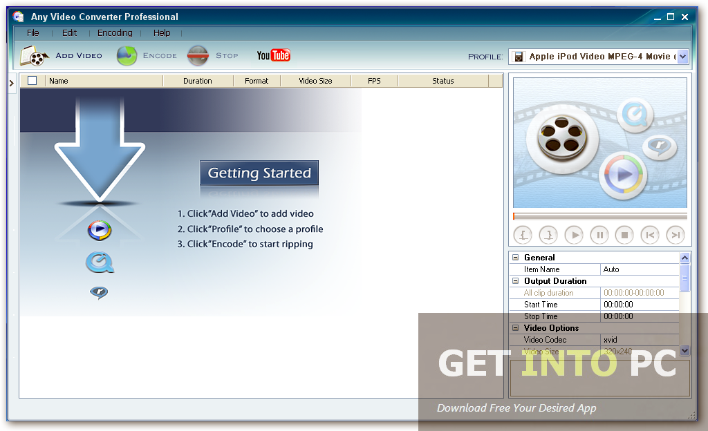 Any Video Converter Professional Offline Installer Download