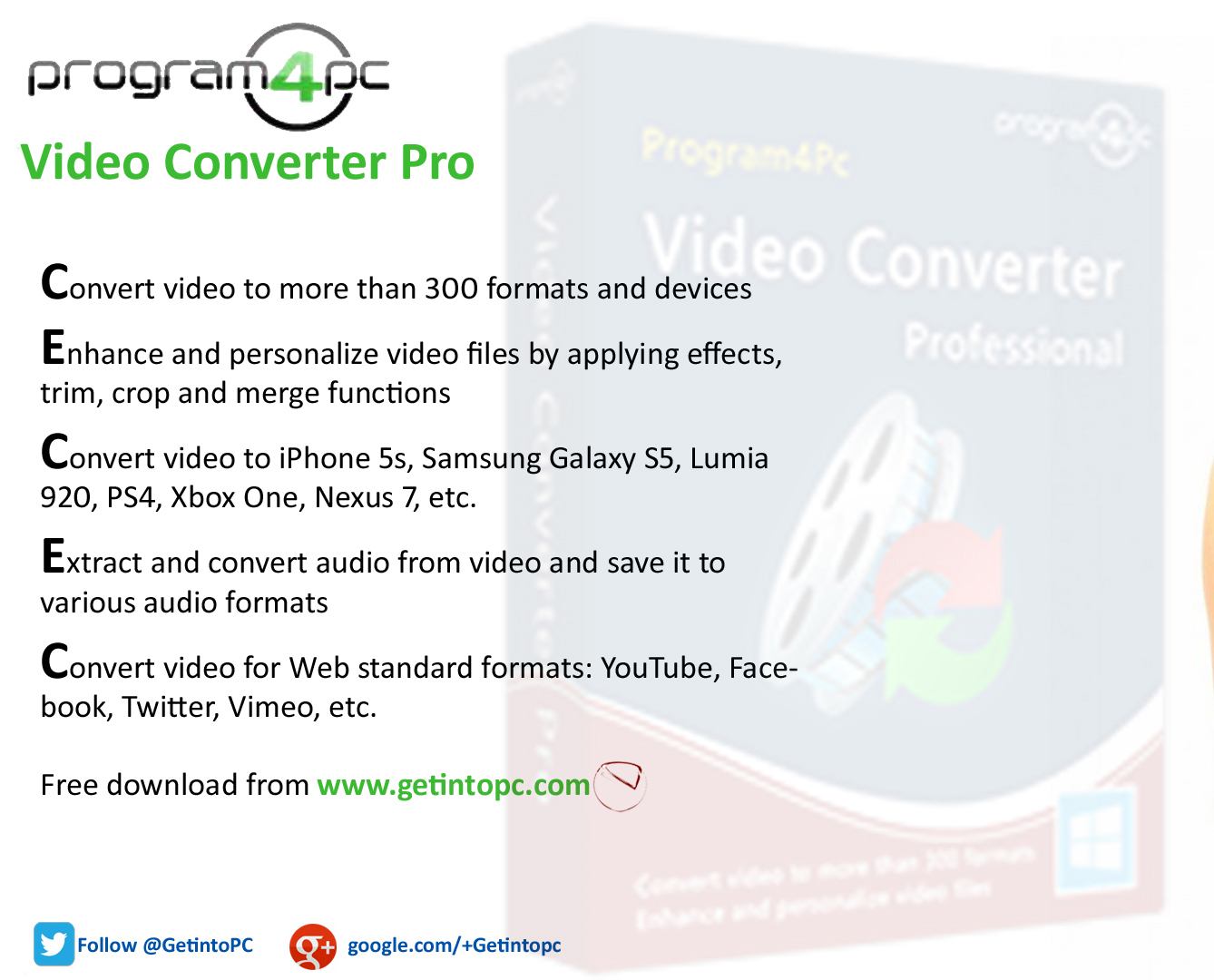 Download Video Convertor Pro Setup exe