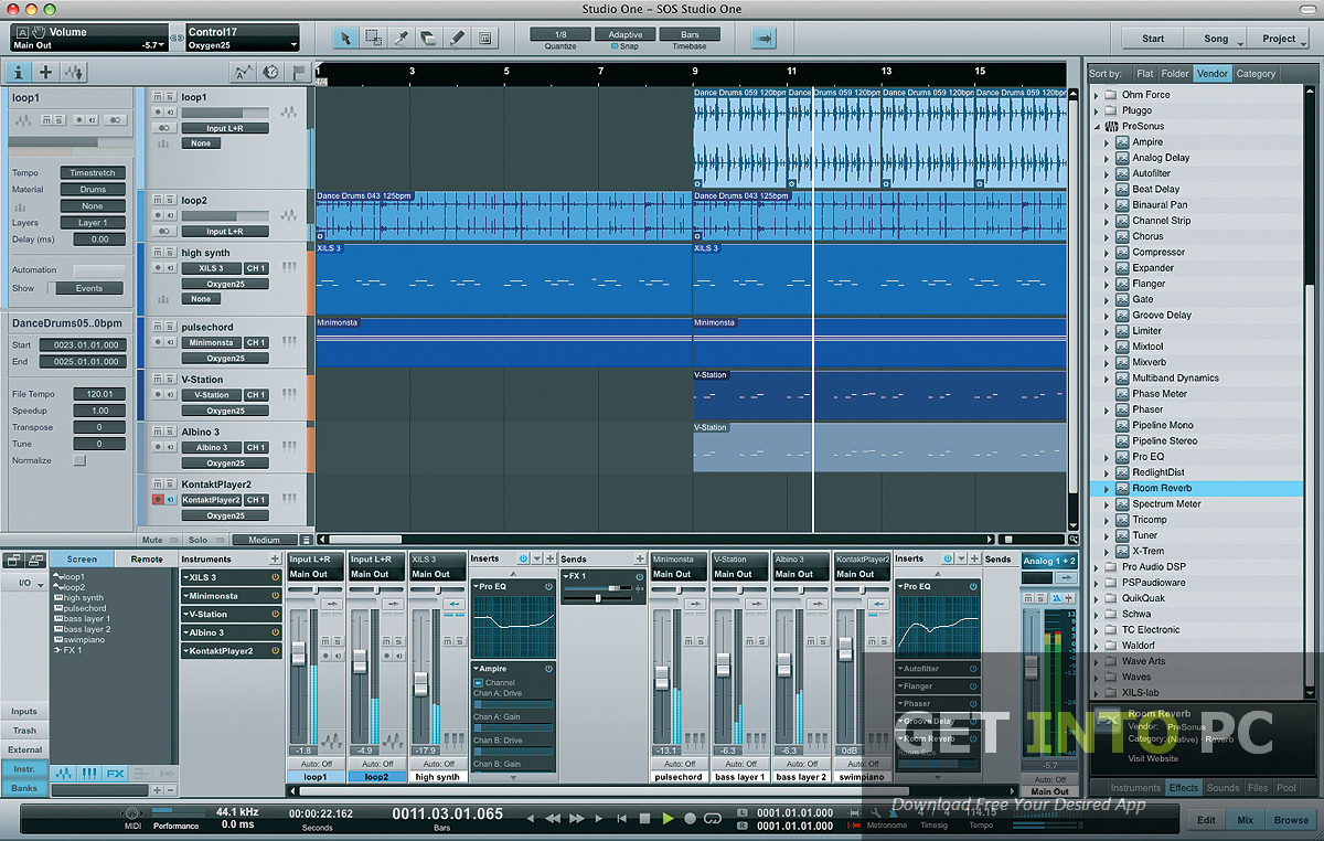 presonus studio one full version free download