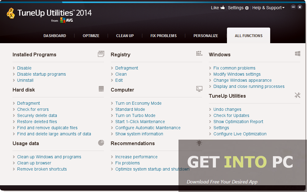 Tune Up Utilities 2014 Offline Installer Download
