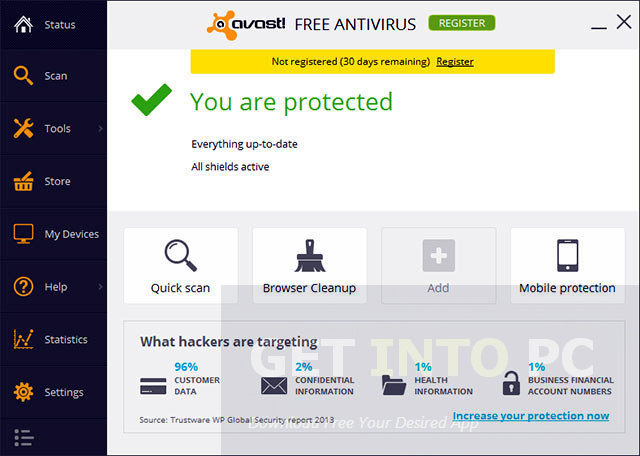 Overview of Avast Free Antivirus for Windows 7 ultimate