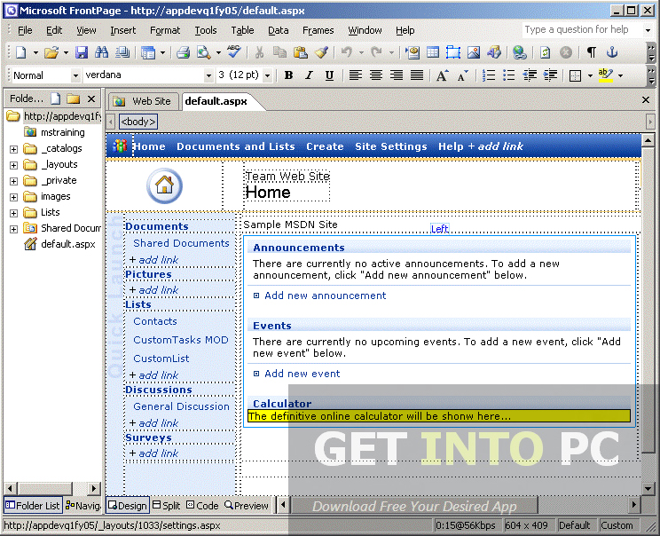 Microsoft Office FrontPage 2003 Offline Installer Download