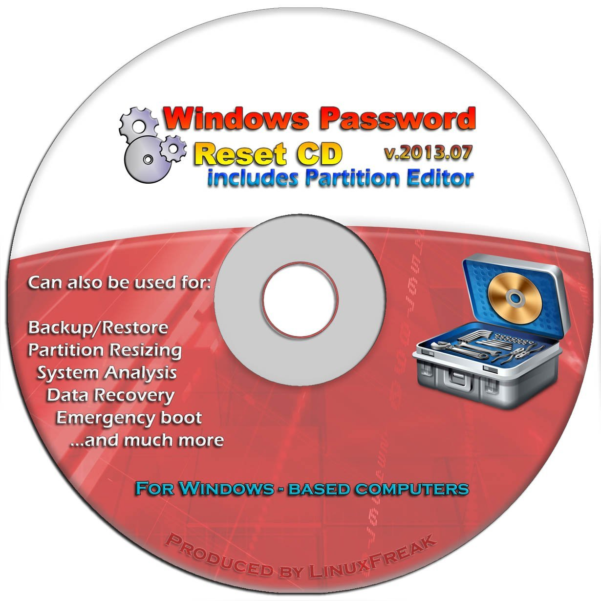 linux password reset disk windows 10