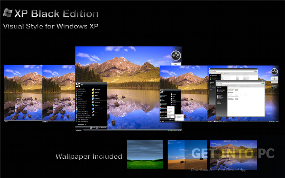 Windows XP SP3 Black Edition 2014 Latest Version Download