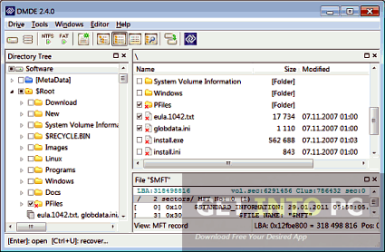 Download DMDE - About DMDE (DM Disk Editor and Data ...
