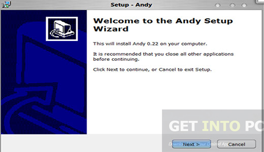 Download Andy Android Emulator Setup exe