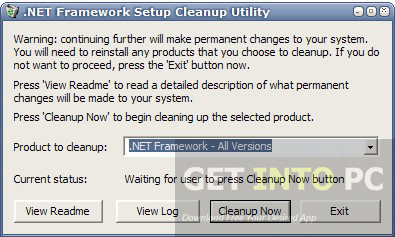 .NET Framework Cleanup Tool Download For Free