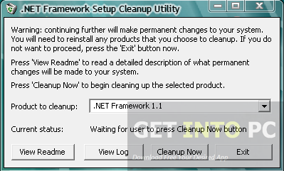 .NET Framework Cleanup Tool Free Download