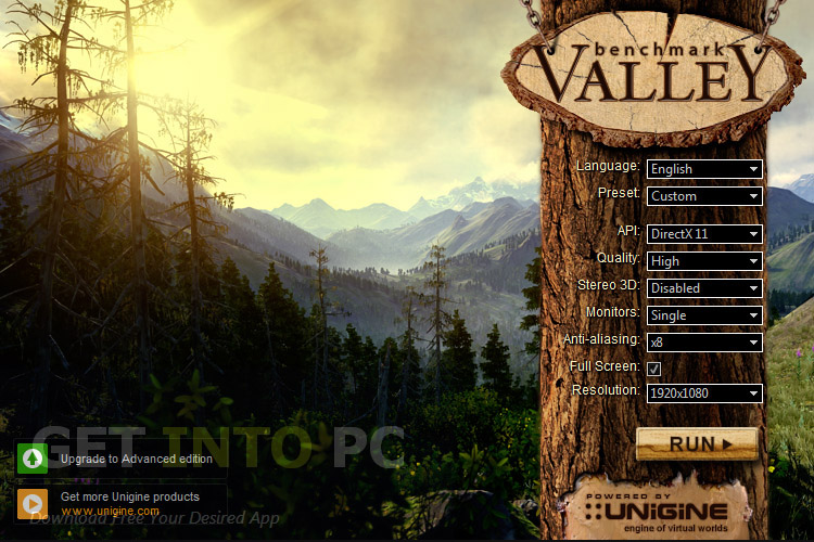 UNIGINE Valley Benchmark Free Download
