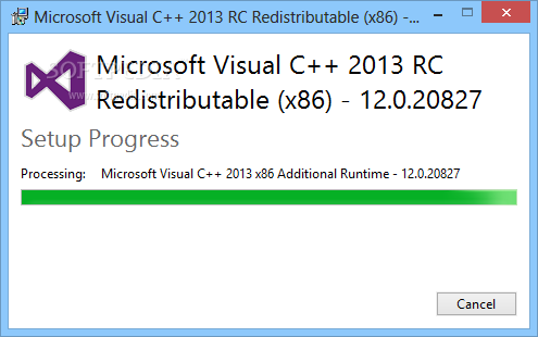 How to download microsoft visual c++ 2012 redistributable package.