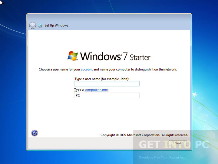 Windows 7 Starter Download ISO 32 Bit
