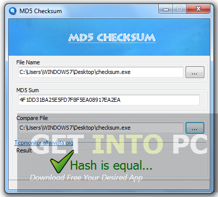 MD5 Checksum Free Download