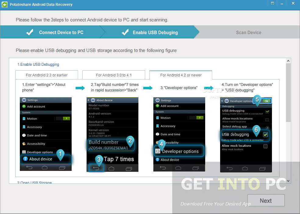 Potatoshare Android Data Recovery Offline Installer Download