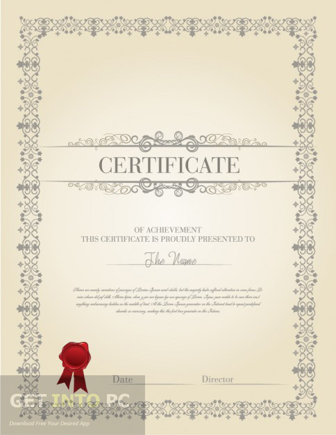 Certificate Diploma Elegant Template Vector Latest Version Download