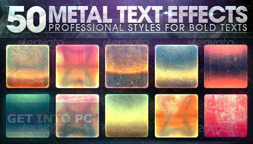 Graphicriver 50 Metal Text Effects Free Download