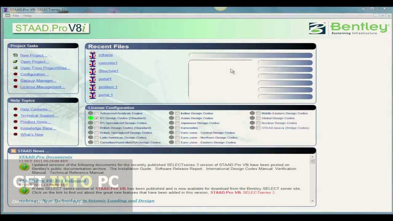 staad pro v8i  with crack for windows 7 64 bit