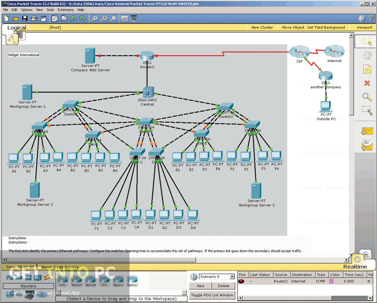 Cisco Packet Tracer Instructor version Offline Installer Download