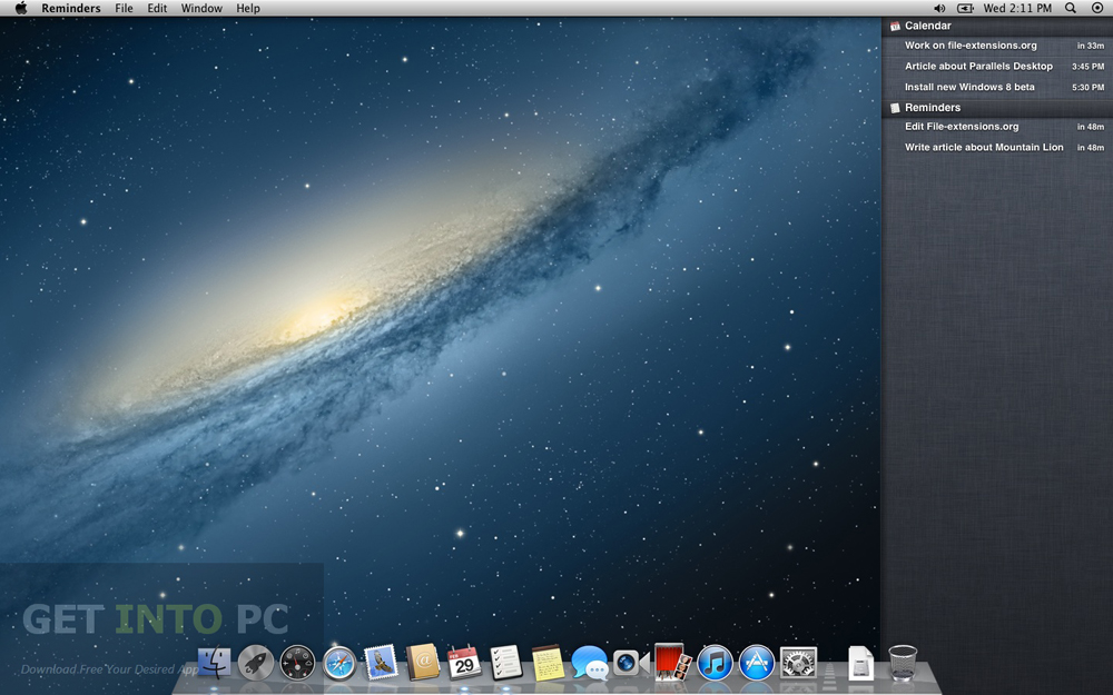 Download Mac OS X Mountain Lion Setup exe