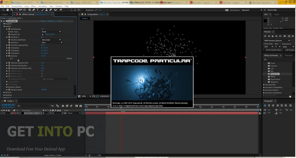Red Giant Trapcode Suite Offline Installer Download