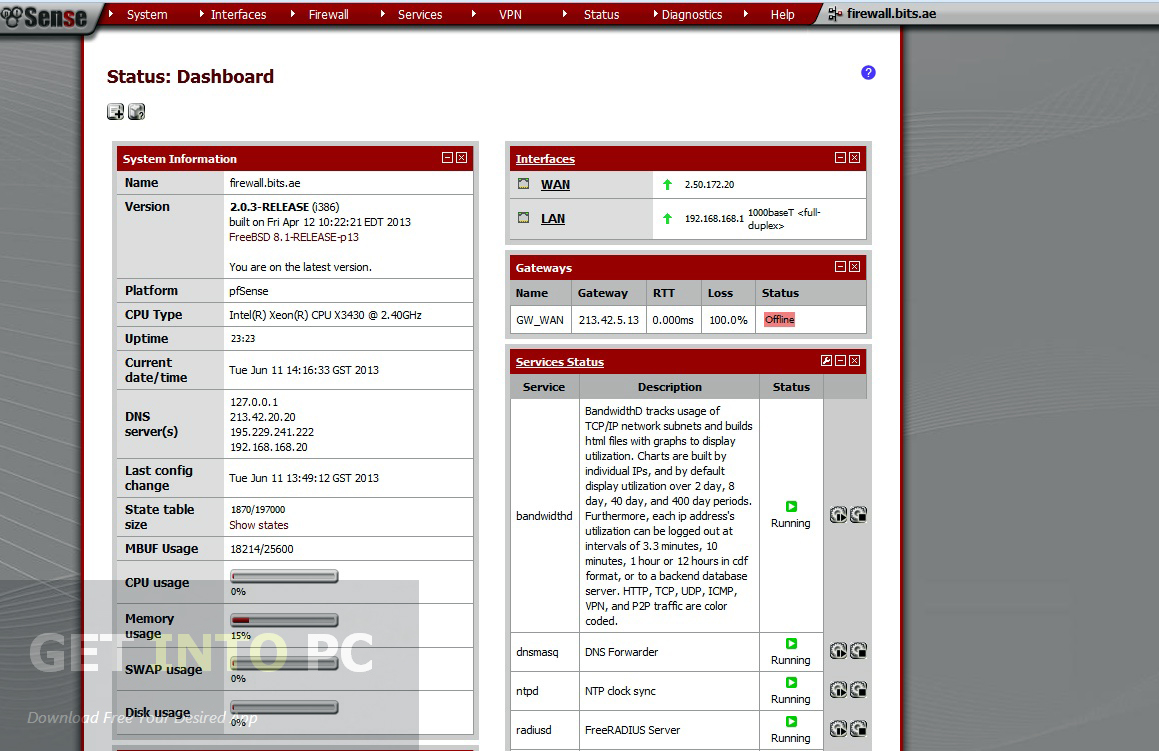 pfSense Live CD Installer Latest Version Download