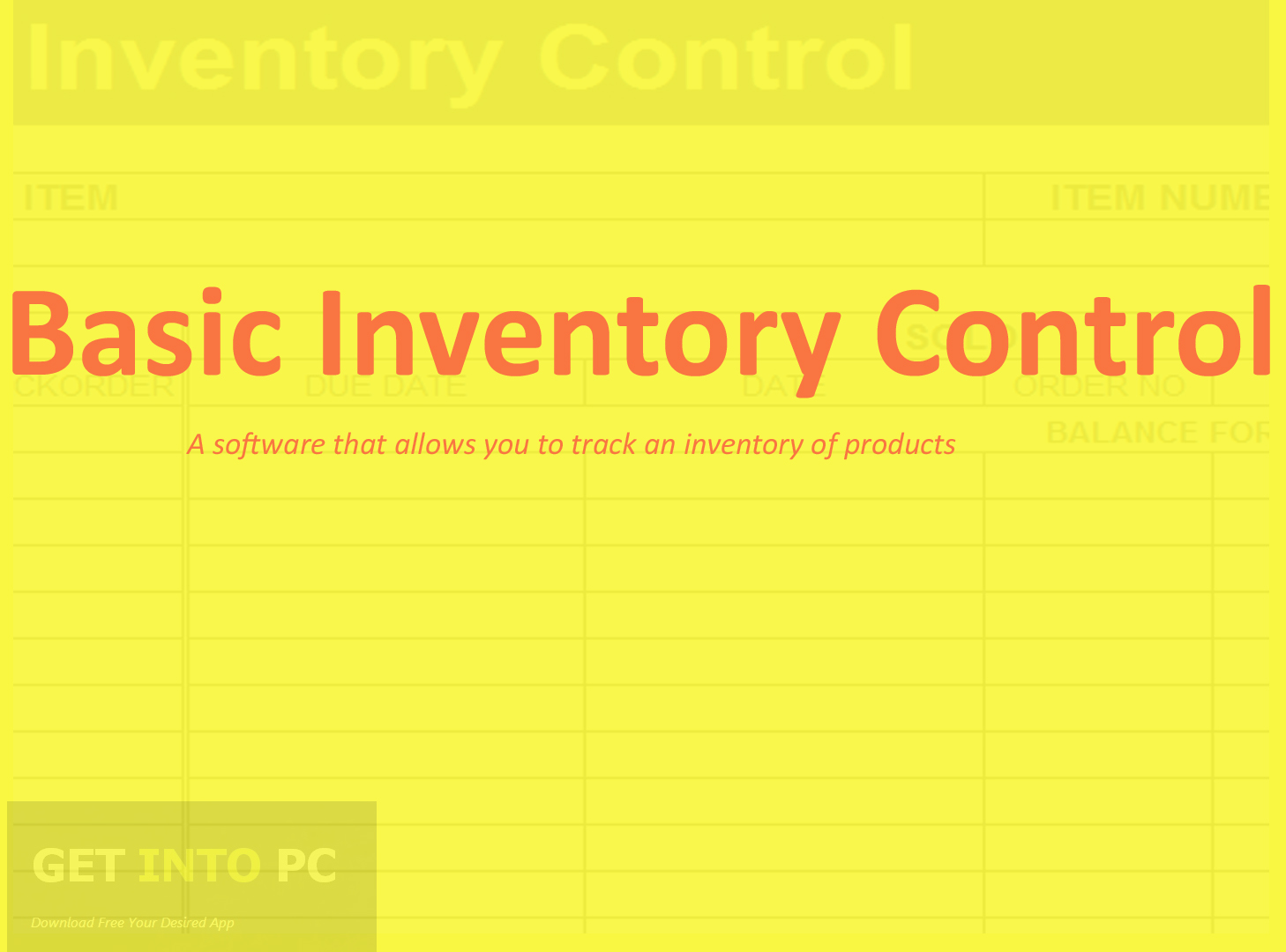Basic Inventory Control Free Download