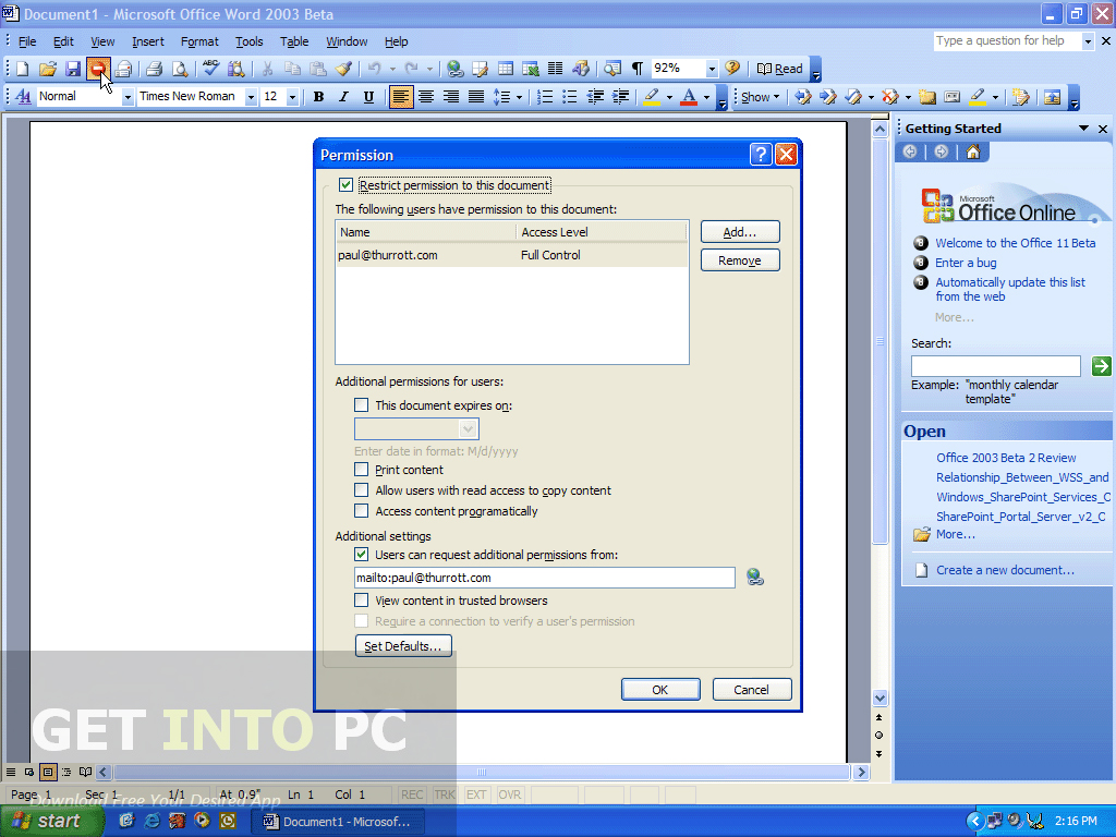 Office 2003 Professional Portable Free Download