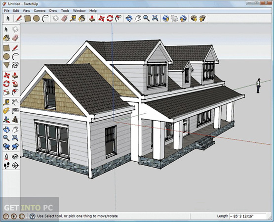 Sketchup pro 2015 free download for Modele maison sketchup