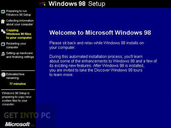 Windows 98 free download for Latest windows version