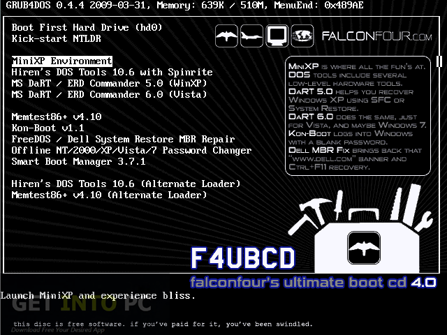 FlaconsFours Ultimate Boot CD Offline Installer Download