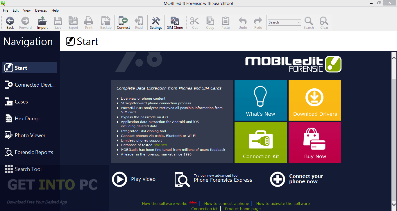 MOBILedit Forensic with Search Tools Offline Installer Download