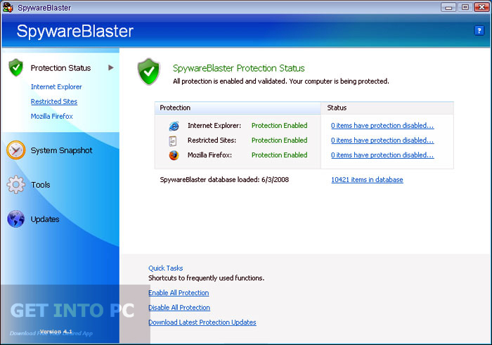 SpywareBlaster Direct Link Download