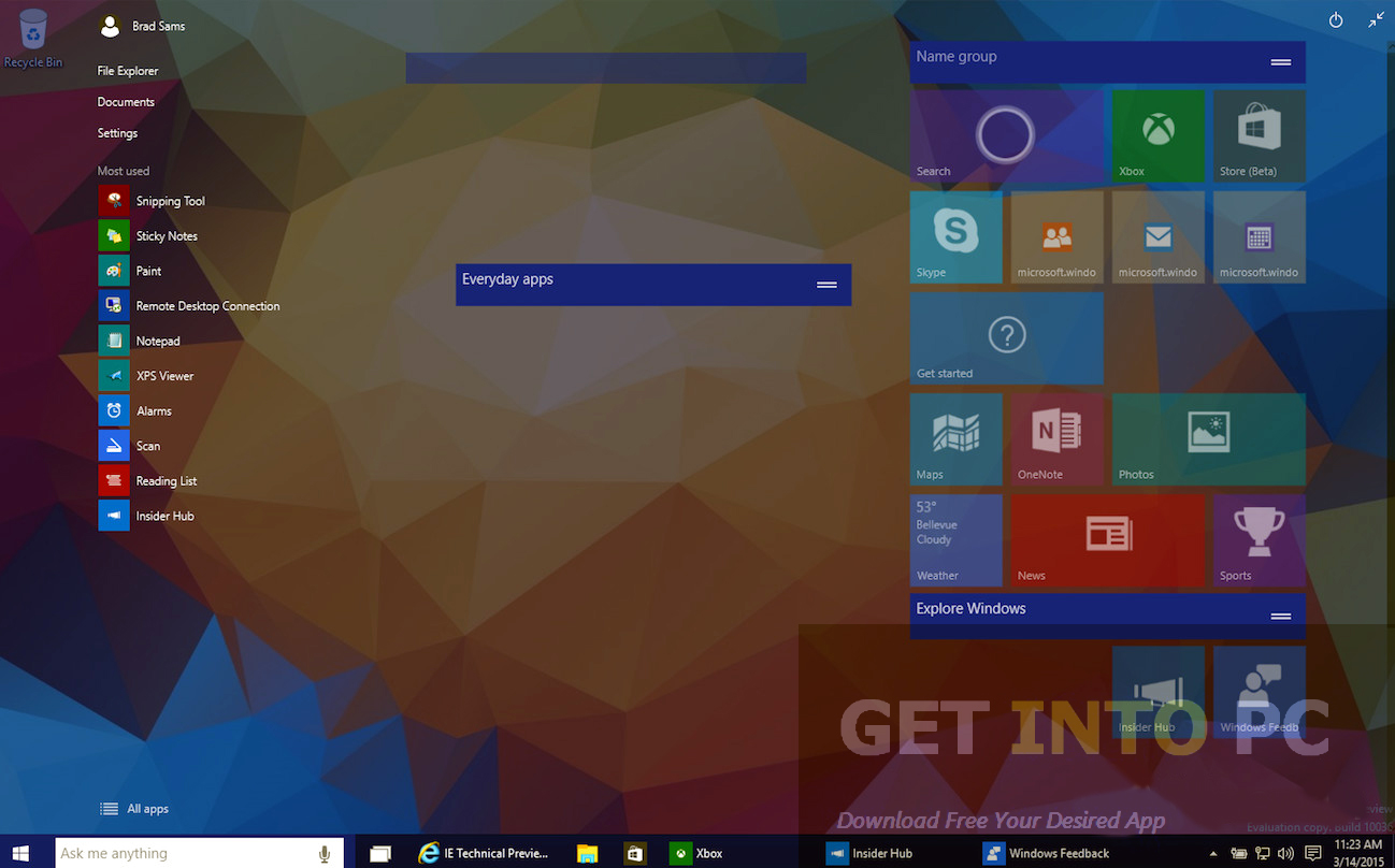Windows 10 Build 10036 Direct Link Download