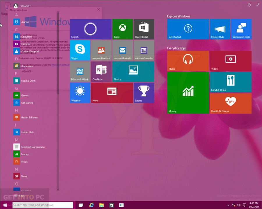 Windows 10 Pro Build 10041 Direct Link Download