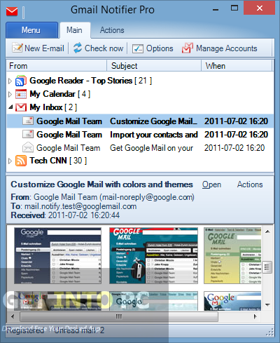 Gmail Notifier Pro Offline Installer Download
